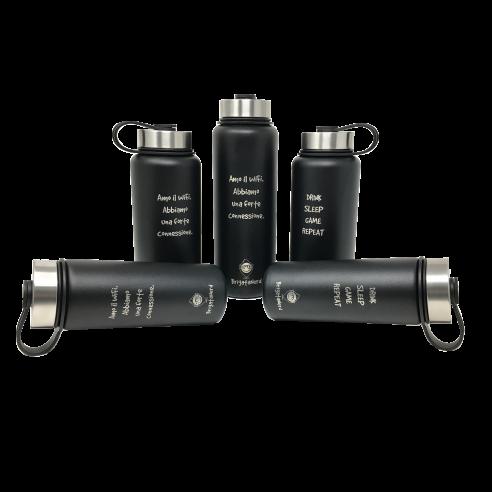 Bouteille thermique CheckPoint en acier inoxydable a double paroi, sans BPA, thermique Brigata Nerd - 12