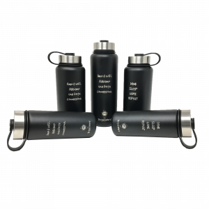 Botella termica CheckPoint en acero inoxidable de doble pared, sin BPA, termica Brigata Nerd - 12