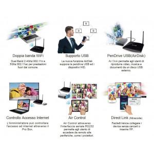 EZCast PRO Box B02 HDMI/VGA-Ethernet o WiFi, Pantalla de 2,4 Ghz / 5 ghz con Soporte Miracast, AirPlay y en pantalla EzCast - 2