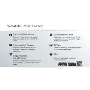 EZCast PRO Box B02 HDMI/VGA Ethernet/WiFi Display 2.4Ghz / 5Ghz con Supporto Miracast, AirPlay e Splitscreen a 4 dispositivi EzC