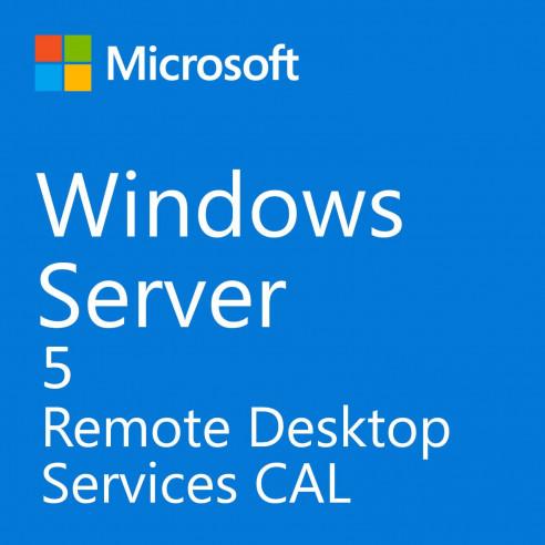 Microsoft Windows Server Servicio de Escritorio Remoto de CAL 2019 - 5 CAL de Usuario de RDS Microsoft Corporation - 1