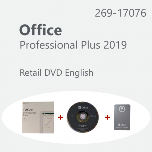 Microsoft Office Professional Plus 2019 - Retail ENG DVD Microsoft Corporation - 1