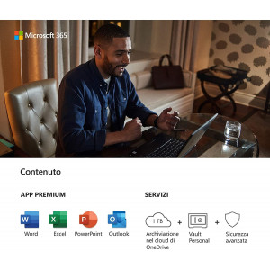 Microsoft 365 for Business-Standard | 1 person | up to 5 PCS/Macs + 5 mobile devices + 5 tablets | 1 year subscription Microsoft