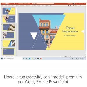 Microsoft 365 Apps for Business   per 1 persona   fino a 5 PC/Mac + 5 dispositivi mobili + 5 tablets   1 abbonamento annuale Mic