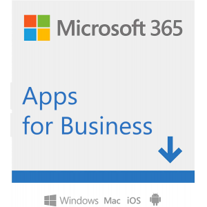 Microsoft 365 Apps for Business | for 1 person | up to 5 PCS/Macs + 5 mobile devices + 5 tablets | 1 year subscription Microsoft