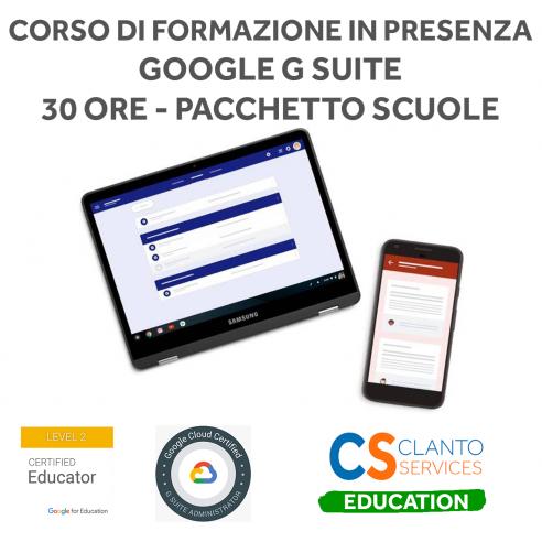 Corso di formazione in presenza Google Educator Livello 1 - 30 ore pacchetto Scuola Google - 1
