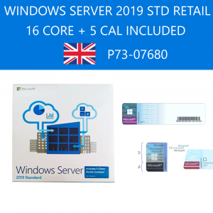 Windows Server Standard 2019 64bit English Retail 16 Core P73-07680 Microsoft Corporation - 1