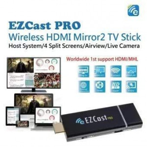 EZCast PRO II HDMI WiFi Display Dongle 5Ghz H.265 4K with Miracast, AirPlay and Splitscreen support EzCast - 4
