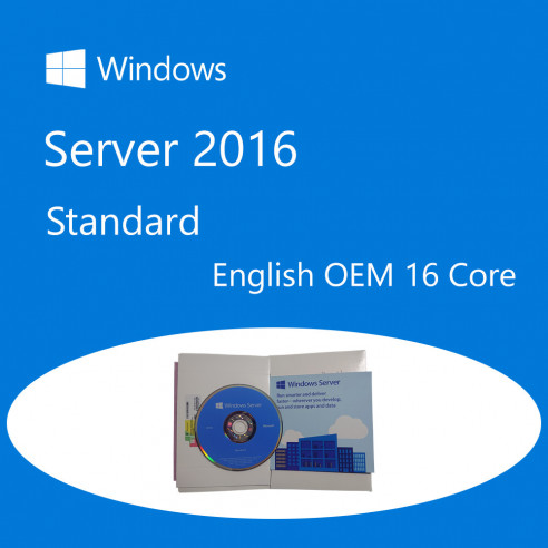 Windows Server Standard 2016 64bit English DSP OEM DVD 16 Core Microsoft Corporation - 1