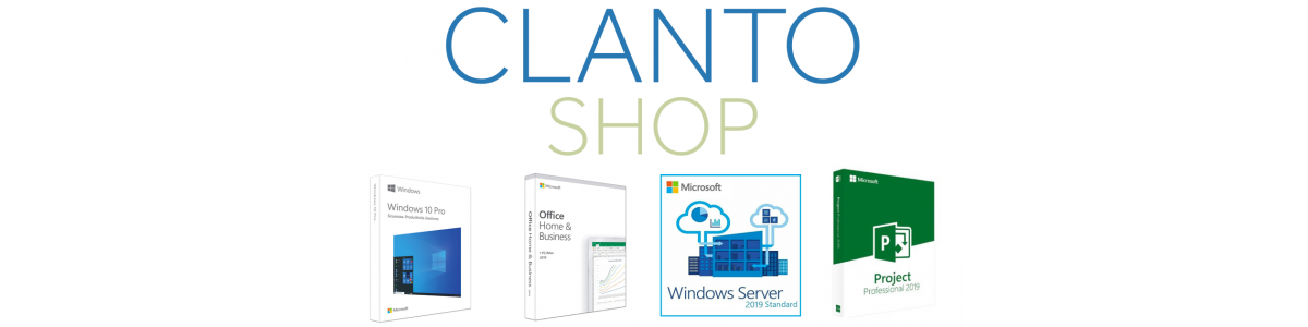 Microsoft-Software in Digital, OEM und Retail Versionen Clanto Shop